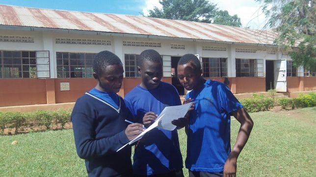 Secondary students in Uganda