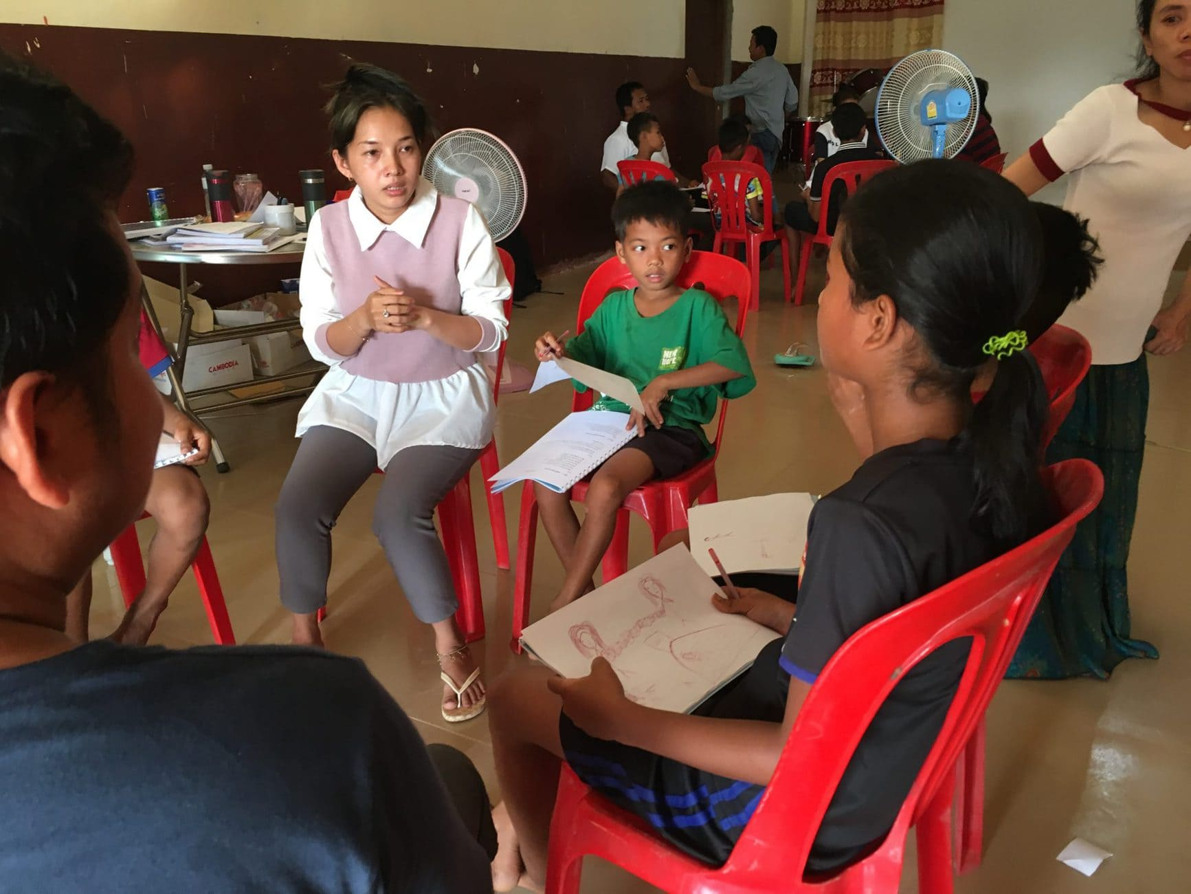 House parents worked with children after 40 hours of training.