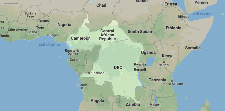 Cameroon, Central African Republic, DRC
