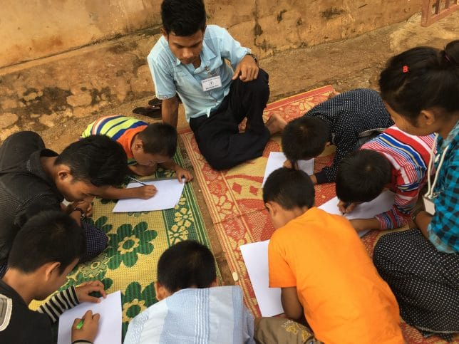 Working with children in Myanmar