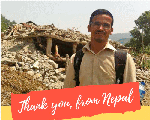 Thank You from Nepal